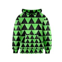 Triangle2 Black Marble & Green Watercolor Kids  Pullover Hoodie