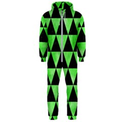 Triangle3 Black Marble & Green Watercolor Hooded Jumpsuit (men)