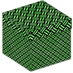 Woven2 Black Marble & Green Watercolor Storage Stool 12