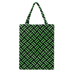 Woven2 Black Marble & Green Watercolor Classic Tote Bag