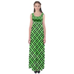Woven2 Black Marble & Green Watercolor (r) Empire Waist Maxi Dress