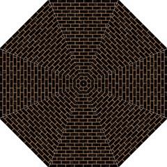 Brick1 Black Marble & Light Maple Wood Folding Umbrellas