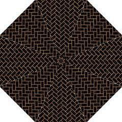 Brick2 Black Marble & Light Maple Wood Straight Umbrellas