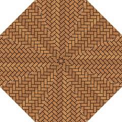 Brick2 Black Marble & Light Maple Wood (r) Hook Handle Umbrellas (medium)