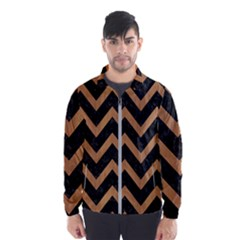 Chevron9 Black Marble & Light Maple Wood Wind Breaker (men)