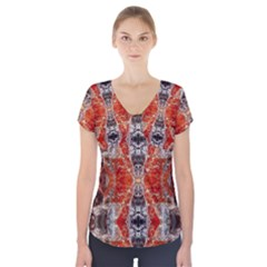 Durham 0310034008  Short Sleeve Front Detail Top
