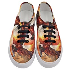 Awesome Creepy Running Horse With Skulls Women s Classic Low Top Sneakers