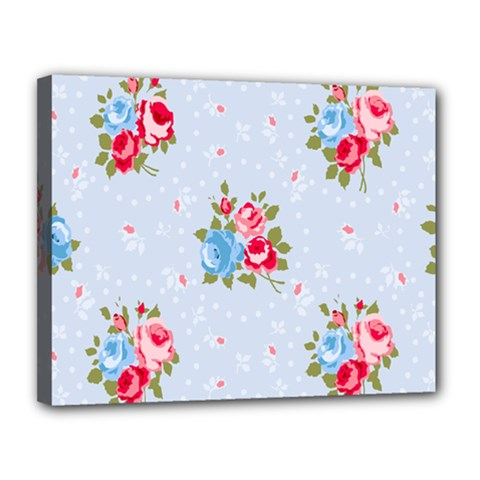 Cute Shabby Chic Floral Pattern Canvas 14  X 11
