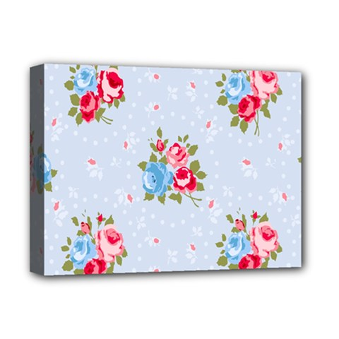 Cute Shabby Chic Floral Pattern Deluxe Canvas 16  X 12