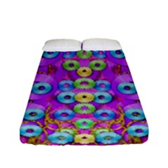 Festive Metal And Gold In Pop Art Fitted Sheet (full/ Double Size)