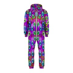 Festive Metal And Gold In Pop Art Hooded Jumpsuit (kids)