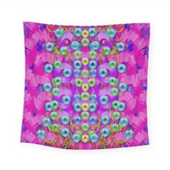 Festive Metal And Gold In Pop Art Square Tapestry (small)