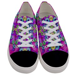 Festive Metal And Gold In Pop Art Women s Low Top Canvas Sneakers