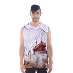 French Coffee Style Abstract Art Men s Basketball Tank Top
