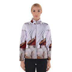 French Coffee Style Abstract Art Winterwear