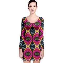 Narellan 0111012005  Long Sleeve Velvet Bodycon Dress
