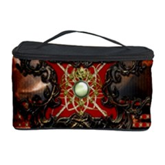Wonderful Floral Design With Diamond Cosmetic Storage Case