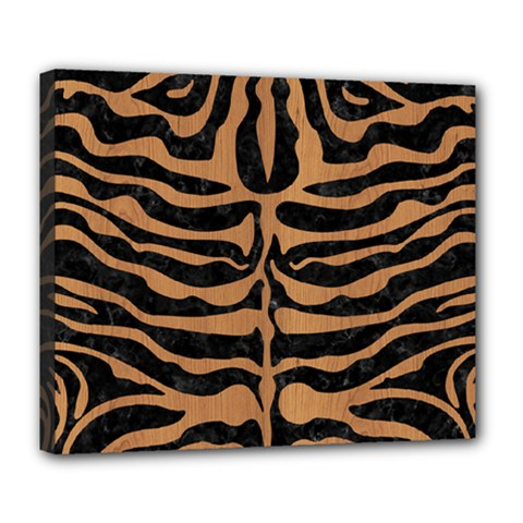 Skin2 Black Marble & Light Maple Wood Deluxe Canvas 24  X 20