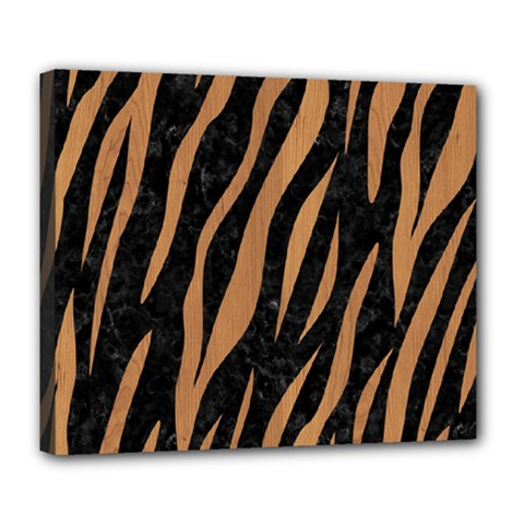 Skin3 Black Marble & Light Maple Wood Deluxe Canvas 24  X 20