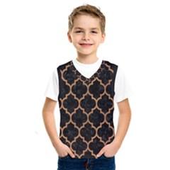 Tile1 Black Marble & Light Maple Wood Kids  Sportswear