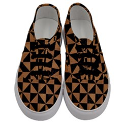Triangle1 Black Marble & Light Maple Wood Men s Classic Low Top Sneakers