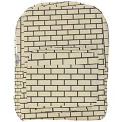 Brick1 Black Marble & Light Sand (r) Full Print Backpack