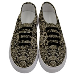 Damask2 Black Marble & Light Sand Men s Classic Low Top Sneakers
