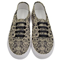 Damask2 Black Marble & Light Sand Women s Classic Low Top Sneakers