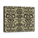 DAMASK2 BLACK MARBLE & LIGHT SAND (R) Canvas 10  x 8  View1
