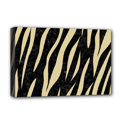 Skin3 Black Marble & Light Sand Deluxe Canvas 18  X 12