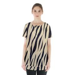 Skin3 Black Marble & Light Sand (r) Skirt Hem Sports Top