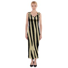 Skin4 Black Marble & Light Sand Fitted Maxi Dress