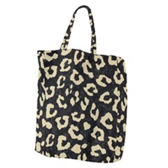 Skin5 Black Marble & Light Sand (r) Giant Grocery Zipper Tote