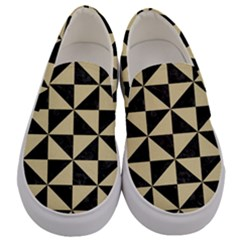Triangle1 Black Marble & Light Sand Men s Canvas Slip Ons