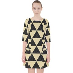 Triangle3 Black Marble & Light Sand Pocket Dress