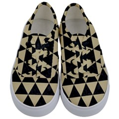 Triangle3 Black Marble & Light Sand Kids  Classic Low Top Sneakers