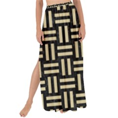 Woven1 Black Marble & Light Sand Maxi Chiffon Tie Up Sarong