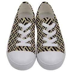 Woven2 Black Marble & Light Sand (r) Kids  Low Top Canvas Sneakers