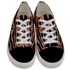 Skin2 Black Marble & Natural Red Birch Wood Women s Low Top Canvas Sneakers