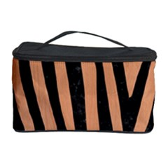 Skin4 Black Marble & Natural Red Birch Wood Cosmetic Storage Case