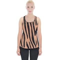 Skin4 Black Marble & Natural Red Birch Wood Piece Up Tank Top