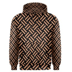 Woven2 Black Marble & Natural Red Birch Wood Men s Pullover Hoodie