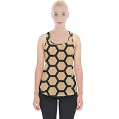 Hexagon2 Black Marble & Natural White Birch Wood (r) Piece Up Tank Top