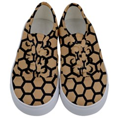 Hexagon2 Black Marble & Natural White Birch Wood (r) Kids  Classic Low Top Sneakers