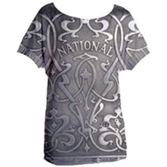 Art Nouveau Silver Women s Oversized Tee