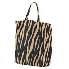 Skin3 Black Marble & Natural White Birch Wood Giant Grocery Zipper Tote
