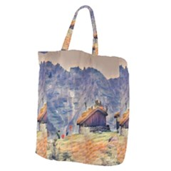 Impressionism Giant Grocery Zipper Tote