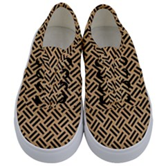 Woven2 Black Marble & Natural White Birch Wood (r) Kids  Classic Low Top Sneakers