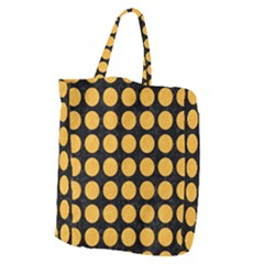 Circles1 Black Marble & Orange Colored Pencil Giant Grocery Zipper Tote