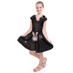Evil Rabbit Kids  Short Sleeve Dress